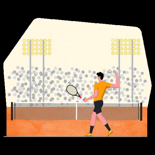 tennisillustration